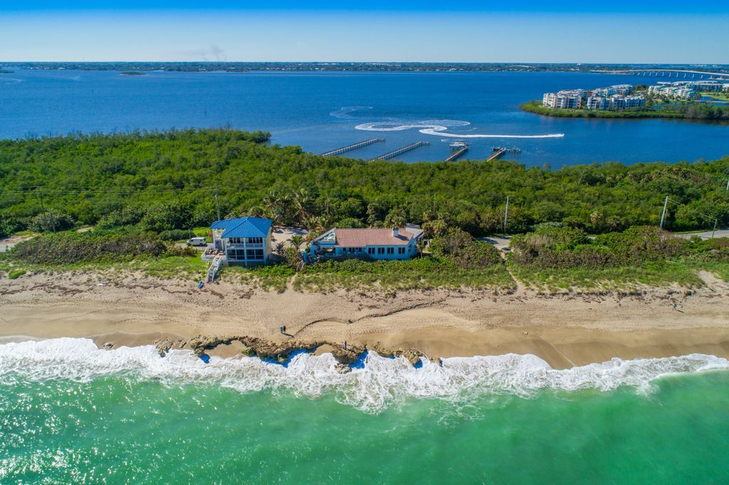 Aerial of the oceanfront at La Dolce Vita