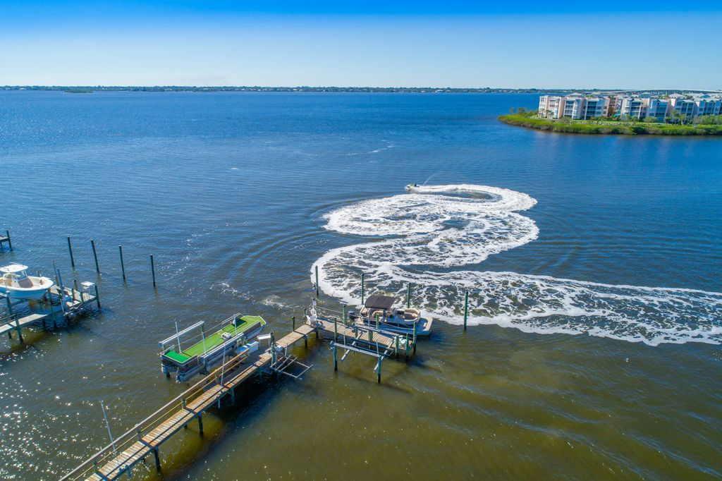 Jet ski on the Indian River at the private dock of La Dolce Vita vacation rental